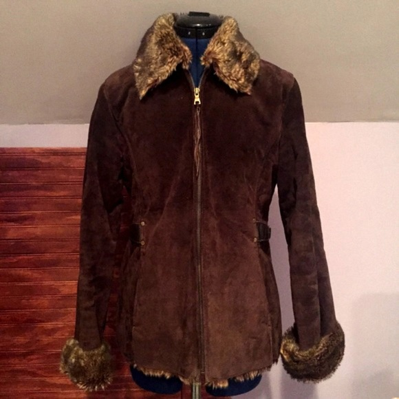 charles klein jackets coats sale leather furred coat poshmark